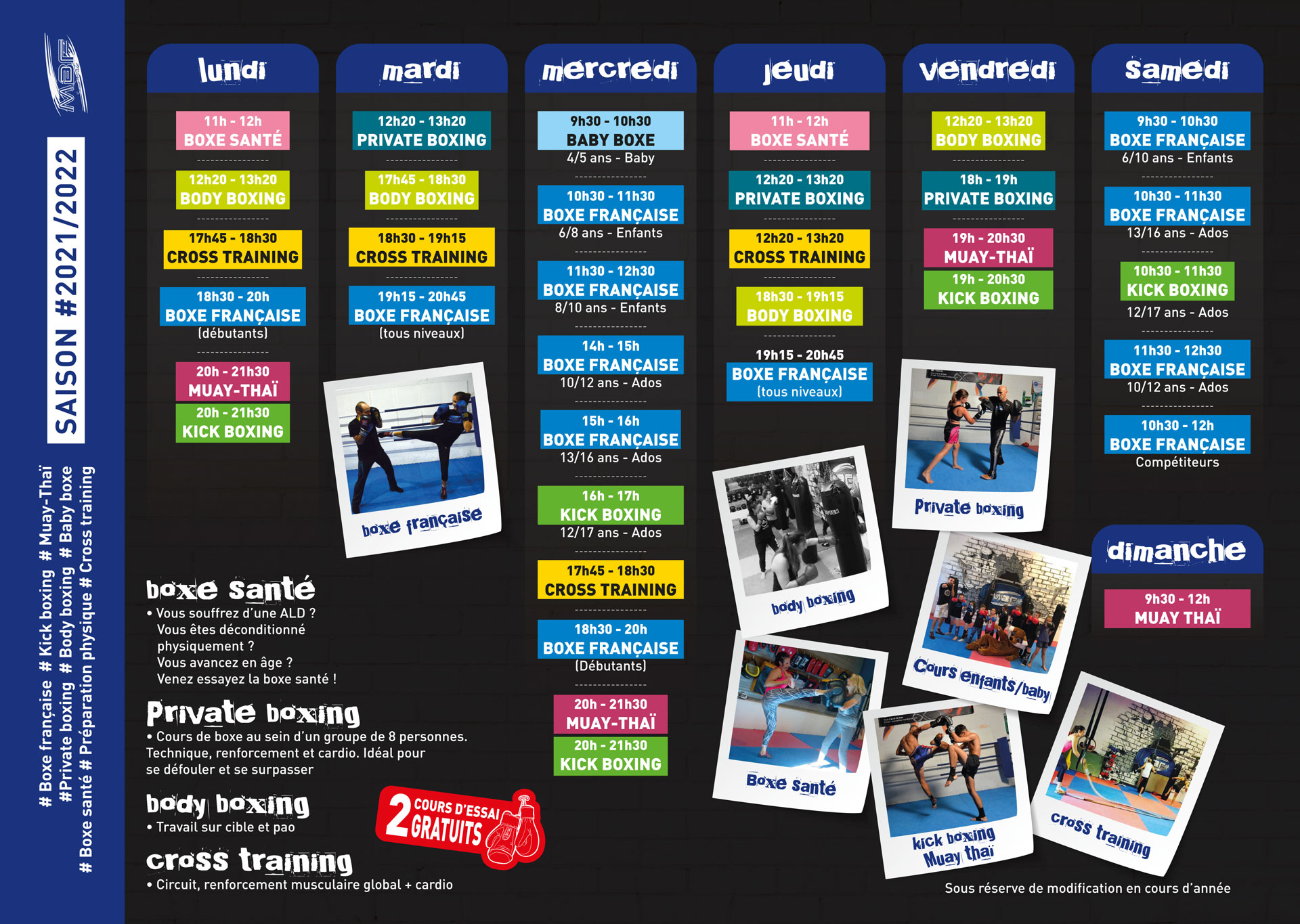 planning-boxe-montpellier-MSBF-2021-2022